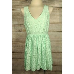 Heartsoul Green Lace Stretch Fit Flare Dress XL